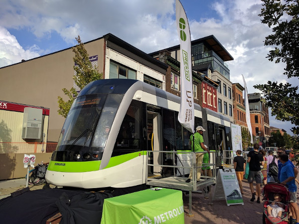 Light Rail Vehicle at Supercrawl 2016