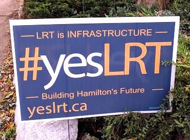 #yesLRT lawn sign